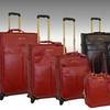Adrienne Vittadini 4-Piece Saffiano Luggage Set