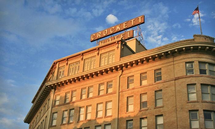 Crockett Hotel - Downtown San Antonio: One-Night Stay at Crockett Hotel in San Antonio. Two Check-In Options Available.