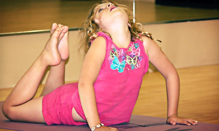 Family Fitness World - Sherwood Park: 5 or 10 Kids' Yoga Classes or a Six-Week Baby or Toddler Intellidance Course at Family Fitness World (Up to 59% Off)
