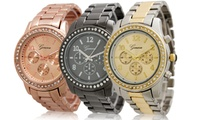 GROUPON: Geneva Women's Boyfriend Watch Geneva Women's Boyfriend Watch