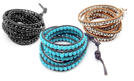 groupon daily deal - Florence Scovel Wrap Bracelet. Multiple Options Available.