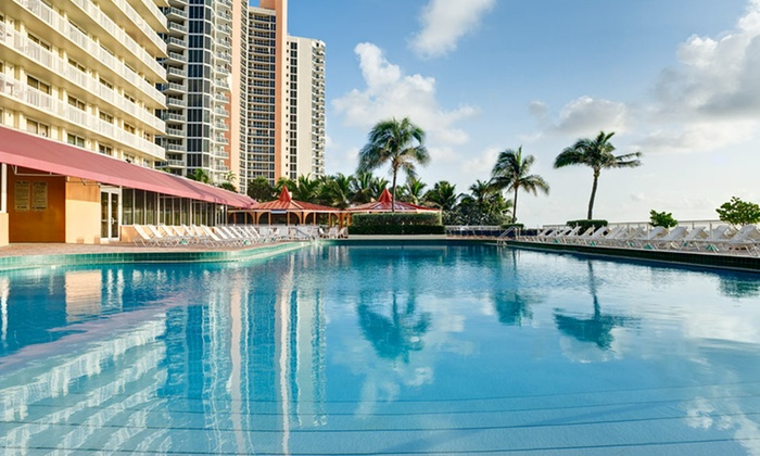 Ramada Plaza Marco Polo Beach Resort - Miami: Stay with Breakfast at Ramada Plaza Marco Polo Beach Resort in Sunny Isles Beach, FL. Dates Available into December.