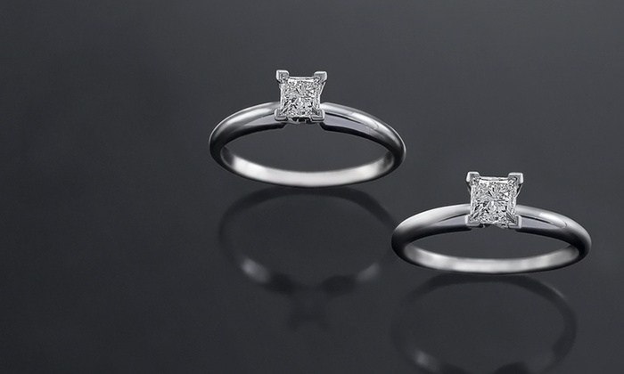 GIA-Certified Princess-Cut Solitaire Diamond Engagement Rings: GIA-Certified Princess-Cut Solitaire-Diamond Engagement Rings (Up to 21% Off). Free Shipping and Returns.