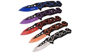 Assisted Opening Stainless Steel Grid Rescue Knife