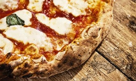 Pizza alla carta, dolce e birra media