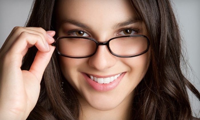 Eyes Nouveau - Multiple Locations: Eyewear and Exams at Eyes Nouveau (Up to 80% Off). Two Options Available.