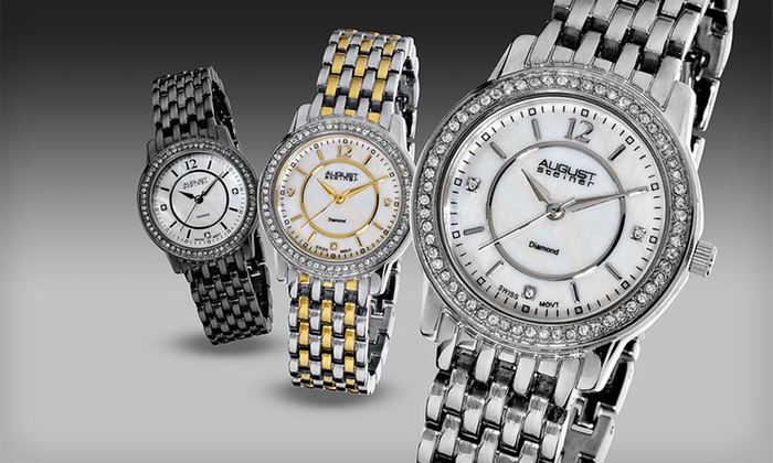 August Steiner Men's and Women's Watches: August Steiner Men's and Women's Watches (Up to 90% Off). Fourteen Options Available. Free Shipping and Free Returns.