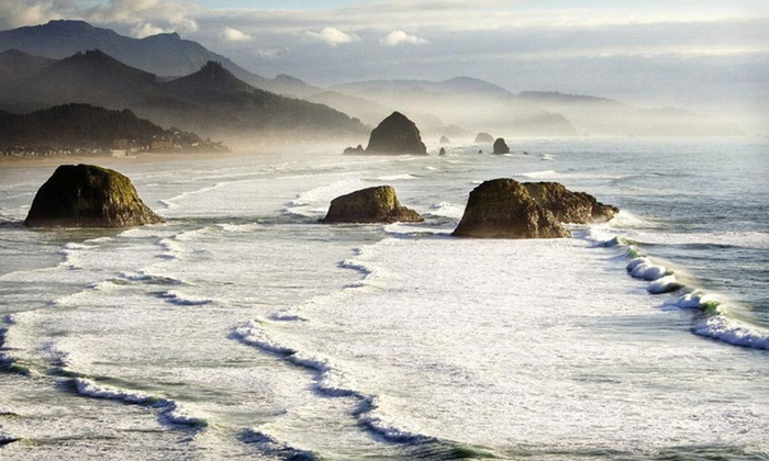 Haystack Lodgings - Cannon Beach, OR: Two-Night Stay at Blue Gull Inn or Inn at Haystack Rock in Cannon Beach, OR