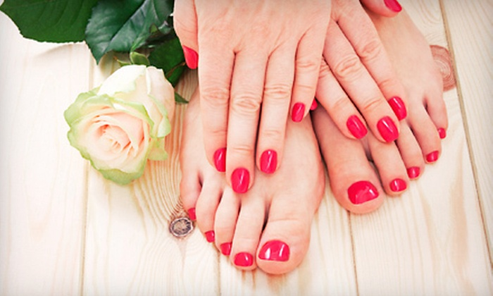 Sage Salon and Spa - Tecumseh: Gel-Polish Manicure with a Mini Pedicure, Express Facial, or Haircut Package at Sage Salon and Spa (Up to 55% Off)