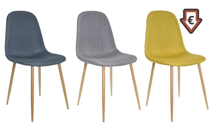 Lot de 2, 4 ou 6 chaises Morry, coloris au choix