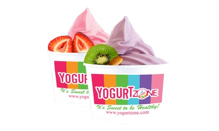 Frozen Yogurt at Yogurt Zone (60% Off). Two Options Available.
