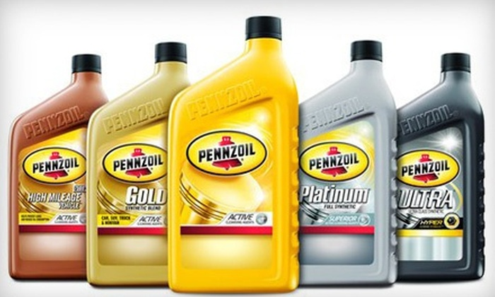 Pennzoil - Multiple Locations: Conventional Oil Change or High-Mileage Oil Change with Fuel Cleaner at Pennzoil (Half Off)