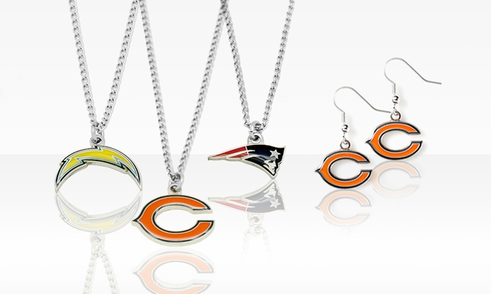 NFL Necklace and Earrings Set: NFL Necklace and Earrings Set. Multiple Teams Available. Free Returns.