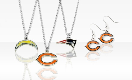 NFL Necklace and Earrings Set. Multiple Teams Available. Free Returns.