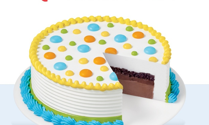 """Dairy Queen /dq Grill & Chill Restaurant - Fort Valley: $13 for a 8"""" Ice Cream Cake"""