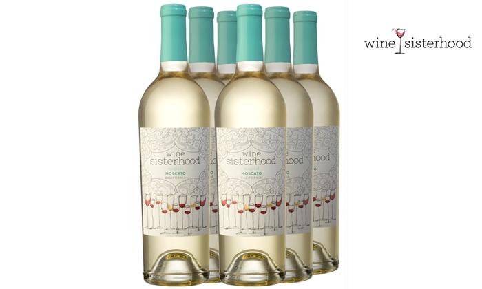 Wine Sisterhood Moscato Set (6-Piece): Wine Sisterhood Moscato Set (6-Piece)