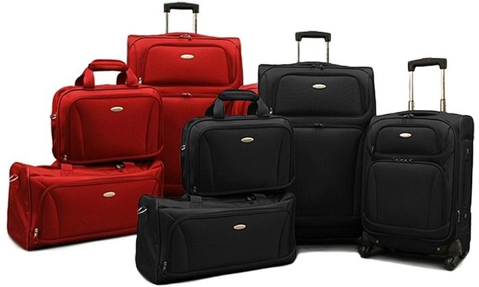 Samsonite 4-Piece Luggage Set | Groupon Goods