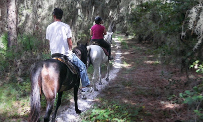 Red Fox Stables - Wimauma-Riverview: Horseback Trail Ride and Barbecue Meal for Two or Four at Red Fox Stables in Lithia (Up to 52% Off)