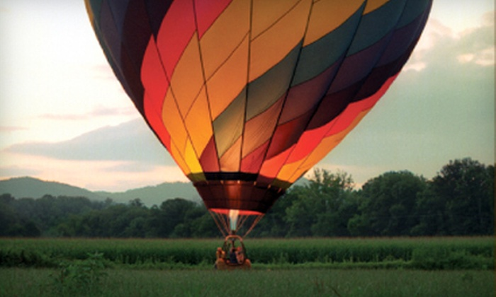 R.O. Franks Hot Air Balloon Company - Downtown Asheville: $125 for a Hot Air Balloon Ride for One from R.O. Franks Aviation Company in Asheville ($250 Value)
