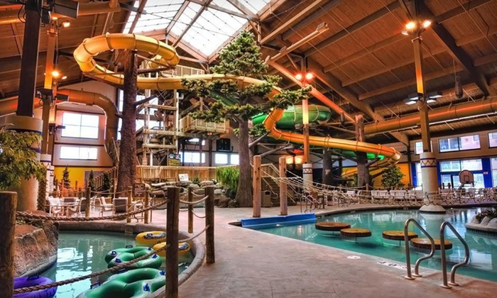 null - Rockford: Stay with Water-Park Passes at Timber Ridge Lodge & Waterpark in Lake Geneva, WI