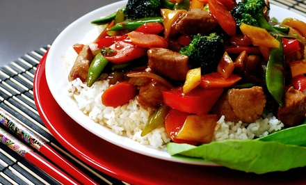 $7.50 for $15 Worth of Mongolian Stir-Fry Dinner for Two at Kublai Khan Crazy Mongolian Stir Fry