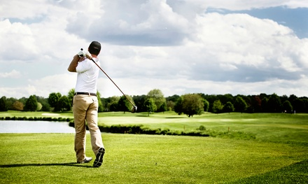 18-Hole Round of Golf with Cart and Range Balls for Two at A. L. Gustin Golf Course (Up to 49% Off)