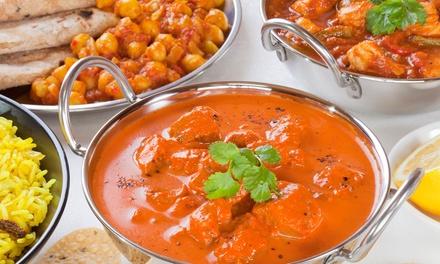 Indisches 5-Gänge-Menü mit Hauptgang und Dessert nach Wahl für 2 od. 4 Pers. im Restaurant Ashirwad (bis zu 54% sparen*)