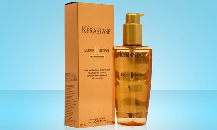 Kérastase Elixir Ultime Oléo-Complexe Versatile Beautifying Oil: 4.2 Fl. Oz. Bottle of Kérastase Elixir Ultime Oléo-Complexe Versatile Beautifying Oil. Free Shipping.