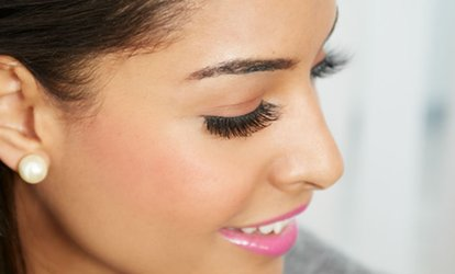 image for Full Set of Eyelash Extensions Plus Optional Eyebrow Wax and Tint at Spencers Hair Salon (Up to 56% Off)