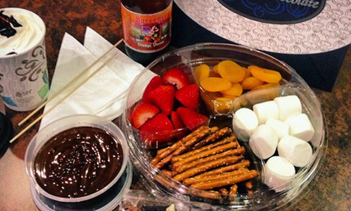 The Royal Chocolate - Virginia Beach Town Center: $15 for Take-Home Fondue Package with Chocolates and Specialty Drinks for Two at The Royal Chocolate ($30 Value)