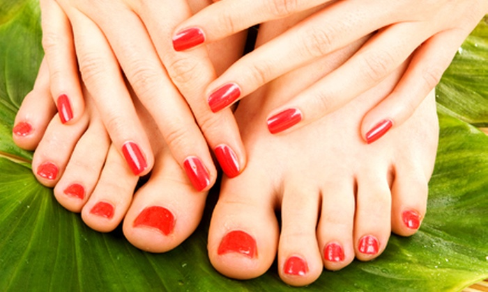 The Nail Room - Alsip: One or Two Regular or Shellac Mani-Pedis at The Nail Room (Up to 62% Off)