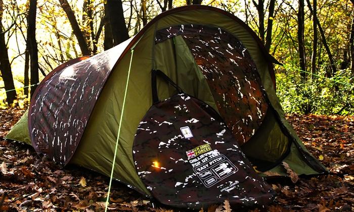 Camouflage Pop Up 2 Man Tent   Groupon