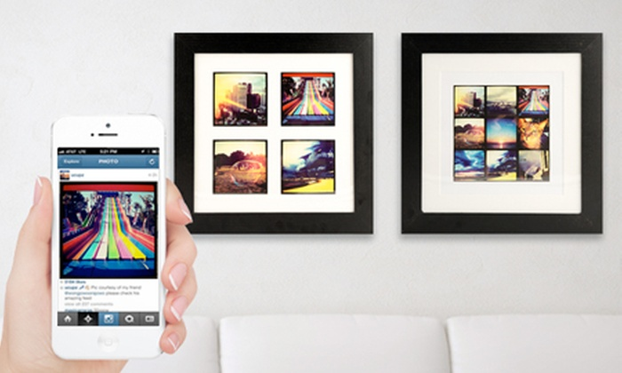Instagram Prints In Wooden Frame Groupon Goods