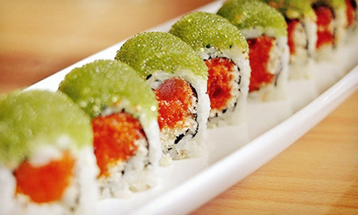 Asian cuisine and sushi aroma restaurant and sushi groupon for Aroma japanese cuisine