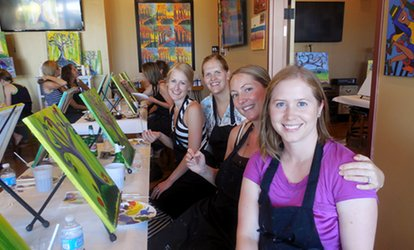 Painting <strong>Classes</strong> for One or Two at Cheers Pablo (Up to 41% Off)