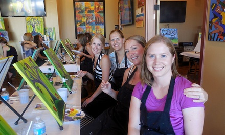 Painting Class with Chips and Bottled Water for One or Two at Cheers Pablo (Up to 55% Off)