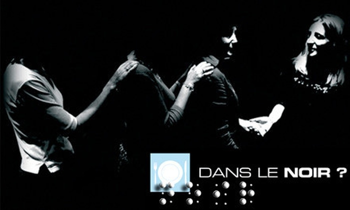 Dans le Noir - Garment District: Gourmet International Dinner in the Dark for Two or Four at Dans le Noir (Up to $86 Off)