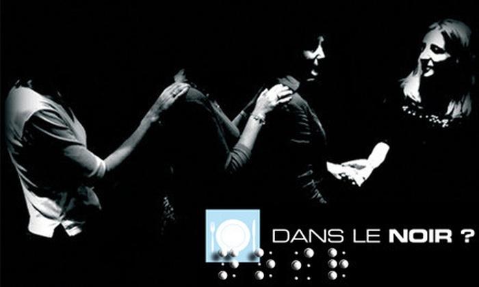Dans le Noir - Garment District: Gourmet International Dinner in the Dark for Two or Four at Dans le Noir (Up to $86 Off)