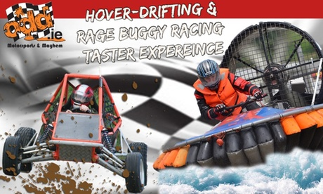 Five Laps of Hovercraft and Five Laps of Buggy Racing Stocking Filler for Up to Four with ODD (51% Off)