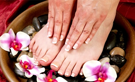 One or Two Classic Mani-Pedis at Jasmine Salon (Up to 53% Off)