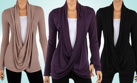 Women's Hacci Criss Cross Cardigan
