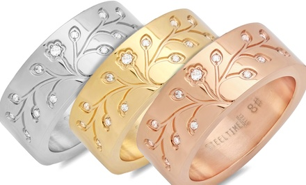 Tree of Life Ring in Stainless Steel, 18K Gold-Plating, or 18K Rose Gold-Plating