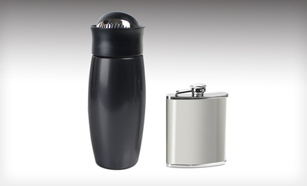 Metrokane Flip-Top Drinks Shaker and Flask
