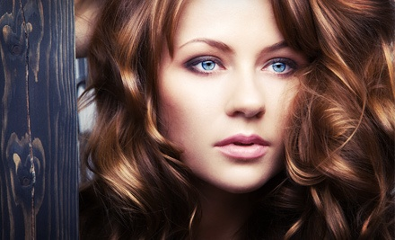 Haircuts and Coloring at Celebrations Hair and Tanning Salon (Up to 60% Off). Three Options Available.