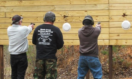 North Carolina Concealed-Carry-Handgun Class for One or Two at Steele Creek Outdoor Survival (Up to 60% Off)