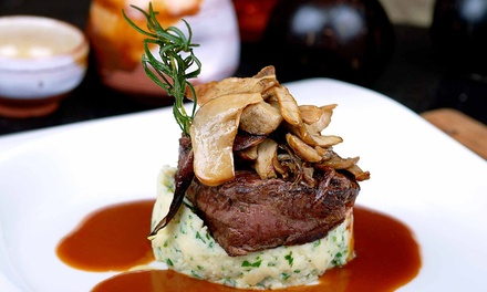 Contemporary Steak-House Cuisine for Lunch or Dinner at Flat Iron Grill (50% Off)