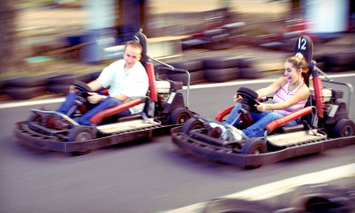 Kentucky Shores Family Fun Center - Ringgold: Fun-Park Outing for Two or Four with Pizza at Kentucky Shores Family Fun Center in Gilbertsville (52% Off)