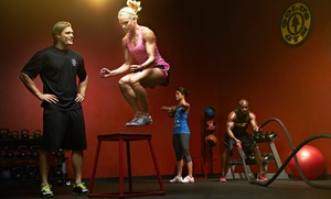 Golds Gym - Mooresville, NC: One Month of MaxXxfit or MaxXxfit for Kids and Membership for One or Two People at Gold's Gym (Up to 68% Off)