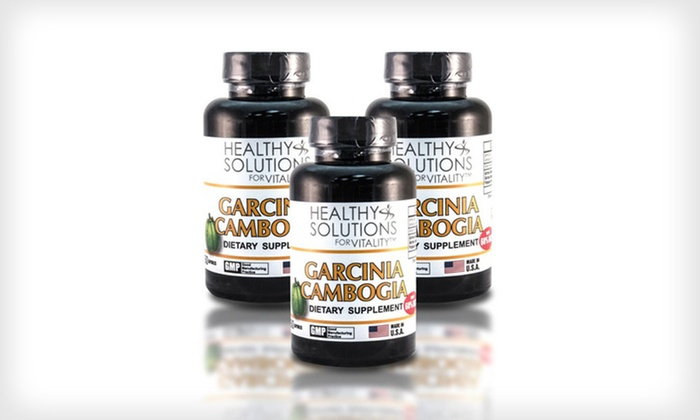 Garcinia Cambogia Supplement: 2 or 3 Bottles of Healthy Solutions Garcinia Cambogia Supplement (Up to 80% Off). Free Shipping.