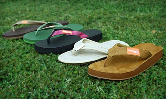 Feelgoodz: Sustainably Made Flip-Flops for Kids or Adults from Feelgoodz (Up to 53% Off). Six Options Available.
